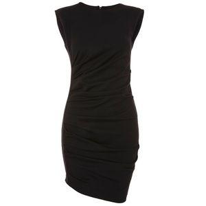 Topshop Shoulder Pad Mini Bodycon Dress Size 8